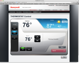 Online thermostat window